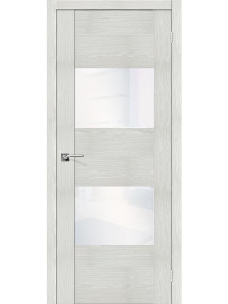 Межкомнатная дверь el'PORTA (Эль Порта) Vetro эко шпон VG2 Bianco Veralinga White Waltz, полотно