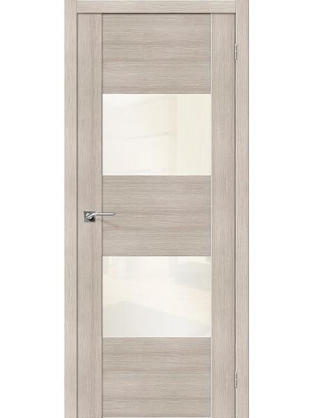 Межкомнатная дверь el'PORTA (Эль Порта) Vetro эко шпон VG2 Cappuccino Veralinga White Pearl, полотно