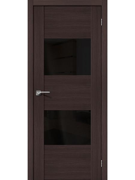Межкомнатная дверь el'PORTA (Эль Порта) Vetro эко шпон VG2 Wenge Veralinga Black Star, полотно