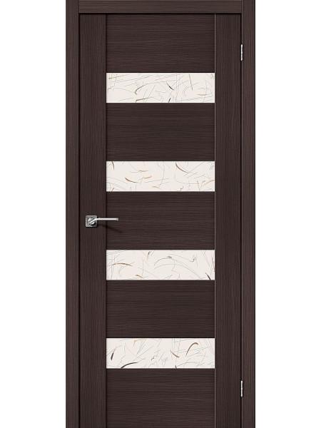 Межкомнатная дверь el'PORTA (Эль Порта) Vetro эко шпон VM4 Wenge Veralinga Silver Art, полотно
