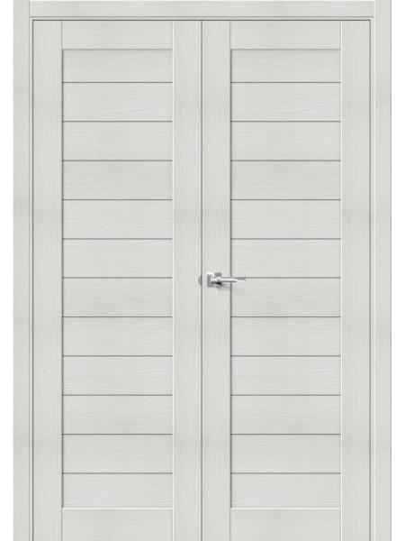 Межкомнатная дверь el'PORTA (Эль Порта) Block эко шпон Порта-21 (2П-03) Bianco Veralinga, полотно