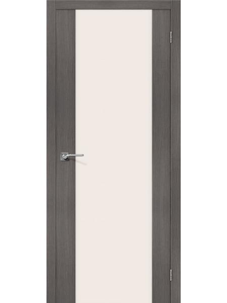 Межкомнатная дверь el'PORTA (Эль Порта) Porta X эко шпон Порта-13 Grey Veralinga Magic Fog Triplex, полотно