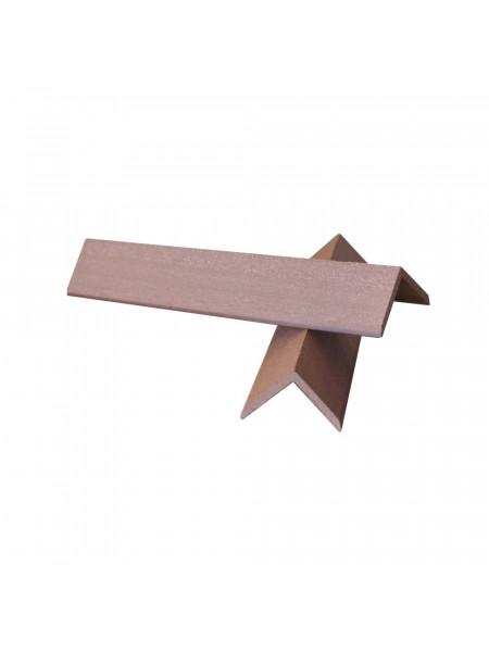 Уголок торцевой для террасной доски из ДПК EuroDeck (ЕвроДек) Шоколад