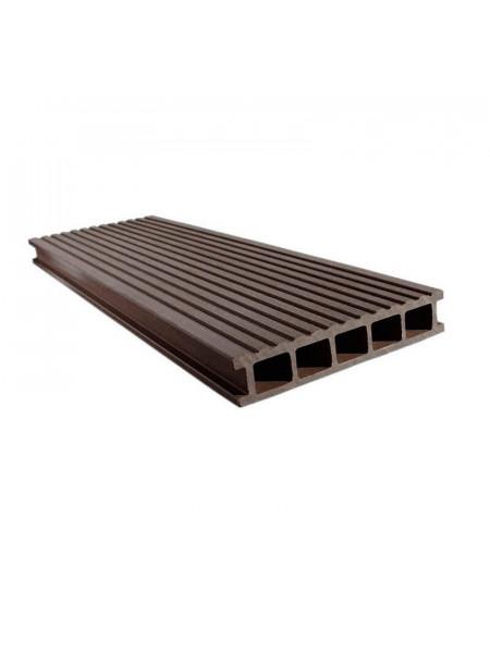 Террасная доска из ДПК EuroDeck (ЕвроДек) Uno Шоколад
