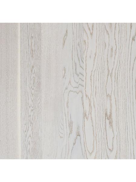 Паркетная доска Focus Floor (Фокус Флор) Дуб Престиж Эстезиан белый матовый лак (Prestige Estesian White Matt) однополосная