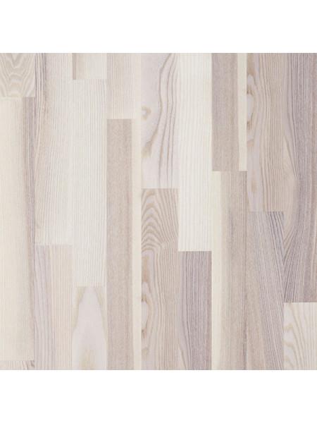 Паркетная доска Focus Floor (Фокус Флор) Ясень Мистраль белый матовый лак  (Mistral White Matt) трехполосная