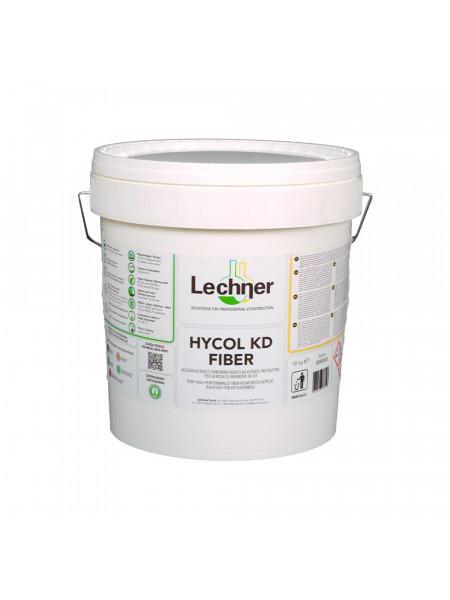 Клей Lechner Hykol KD Fiber воднодисперсионный акриловый, с армирующим фибро волокном, 18 кг