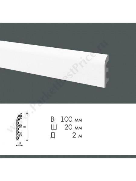 Плинтус из дюрополимера NMC WallStyl 100х20 FL5, 1 м.п.