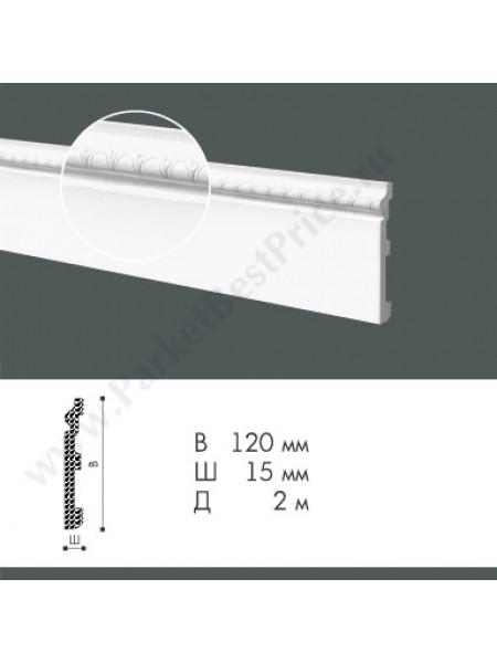 Плинтус из дюрополимера NMC WallStyl 120х15 FO1, 1 м.п.