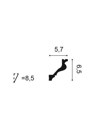 Карниз Orac (Орак) C200 65х57, 1 м.п.