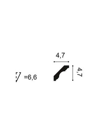 Карниз Orac (Орак) C215 47х47, 1 м.п.