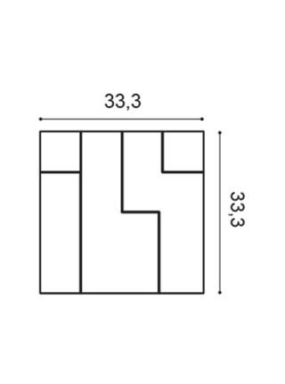 Панель декоративная Orac (Орак) W102 Cubi 333х333х25мм
