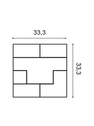 Панель декоративная Orac (Орак) W103 Cubi 333х333х25мм