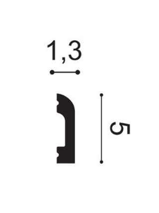 Плинтус из дюрополимера Orac (Орак) DX182-2300 CASCADE 50х13, 1 м.п.
