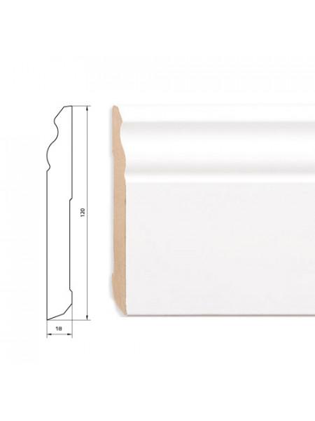 Плинтус Pedross (Педросс) МДФ белый фигурный 2500х120х18