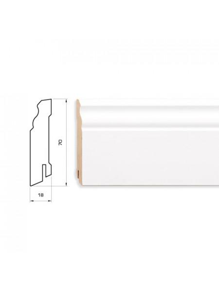 Плинтус Pedross (Педросс) МДФ белый фигурный 2500х70х18