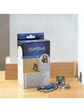 Крепеж для плинтуса Clipstar Клипстар упаковка 50 шт. (клипсы+дюбели+саморезы)