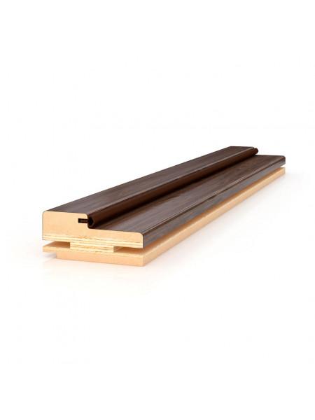 Коробка прямая телескопическая Престиж с уплотнителем Profil Doors серия U цвет Капучино Сатинат, Черный Матовый, Темно-коричневый