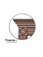 Розетка декоративная Profil Doors серия U цвет Аляска, Магнолия Сатинат