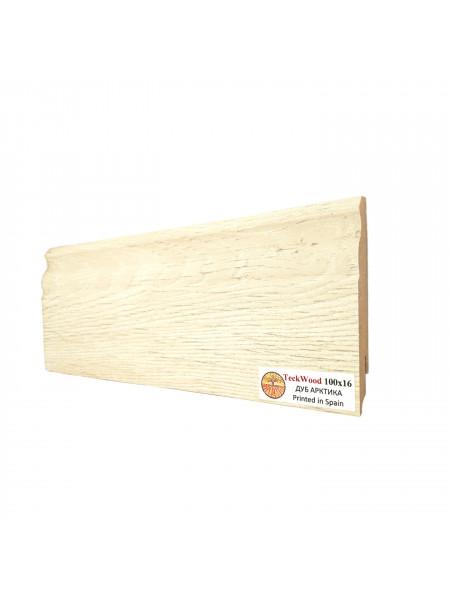 Плинтус Teckwood (Теквуд) МДФ цветной фигурный Дуб Арктика 100х16, 1 м.п.