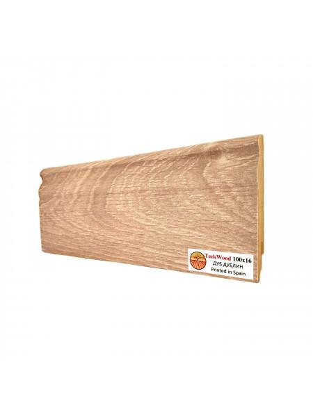 Плинтус Teckwood (Теквуд) МДФ цветной фигурный Дуб Дублин 100х16, 1 м.п.