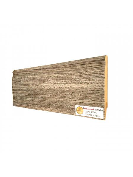 Плинтус Teckwood (Теквуд) МДФ цветной фигурный Дуб Вегас 100х16, 1 м.п.