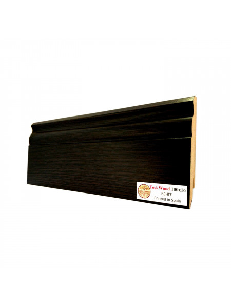 Плинтус Teckwood (Теквуд) МДФ цветной фигурный Венге 100х16, 1 м.п.