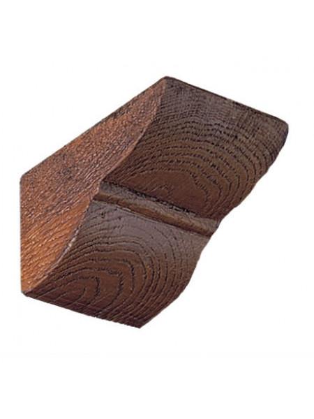 Консоль Рустик (дуб темный) под балки DECOMASTER 254 (200*174*237мм)