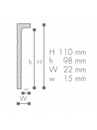 CF2 плинтус Wallstyl NMC 110х22х2000 мм