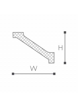 WT1 карниз Wallstyl NMC 45х60х2000 мм