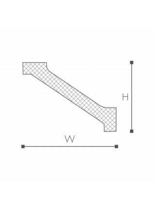 WT2 карниз Wallstyl NMC 75х90х2000 мм