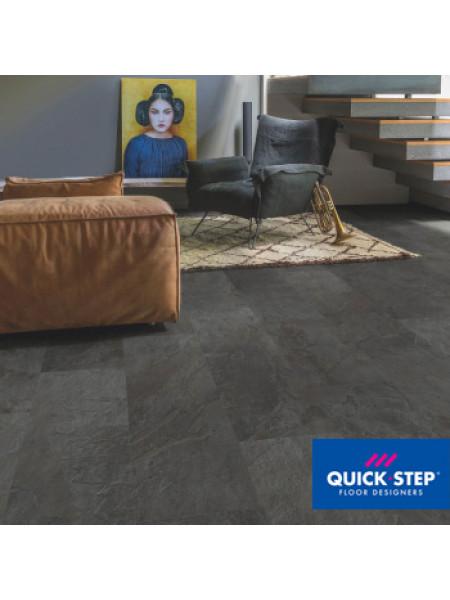 ПВХ-плитка Quick-Step Ambient Glue Plus AMGP 40035 Сланец чёрный