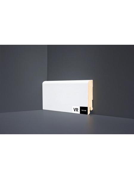 Плинтус Verocom Decor 102-80 МДФ белый прямой 80×16, 1 м.п.