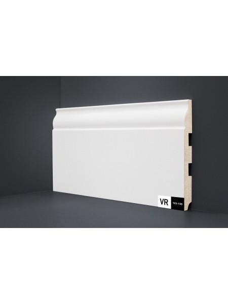 Плинтус Verocom Decor 103-150 МДФ белый 150×16, 1 м.п.