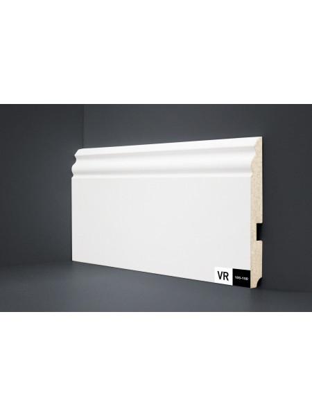 Плинтус Verocom Decor 105-150 МДФ белый 150×16, 1 м.п.
